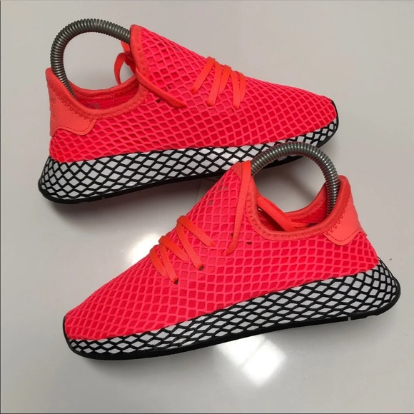 premium selection d06a6 2d888 NEW Kids Adidas Deerupt Solar Red sz6.5=8Wmns